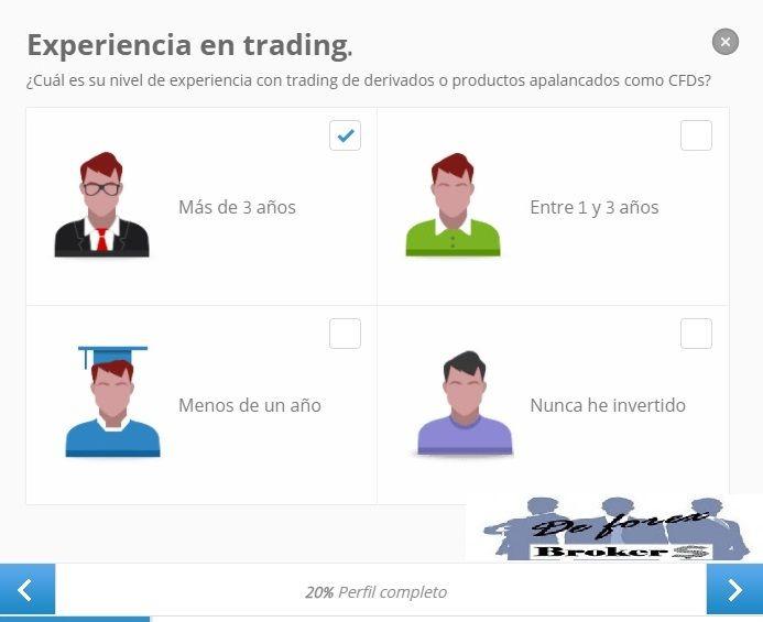 completar nuestro perfil etoro experiencia en trading
