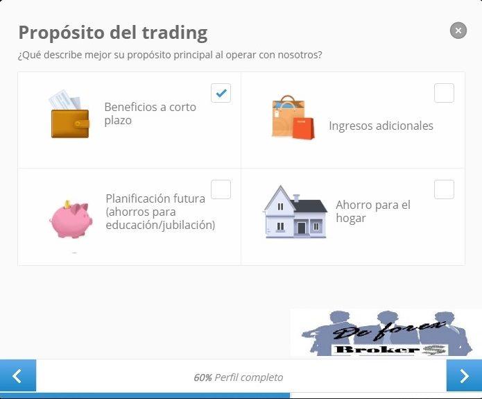 completar nuestro perfil etoro proposito del trading