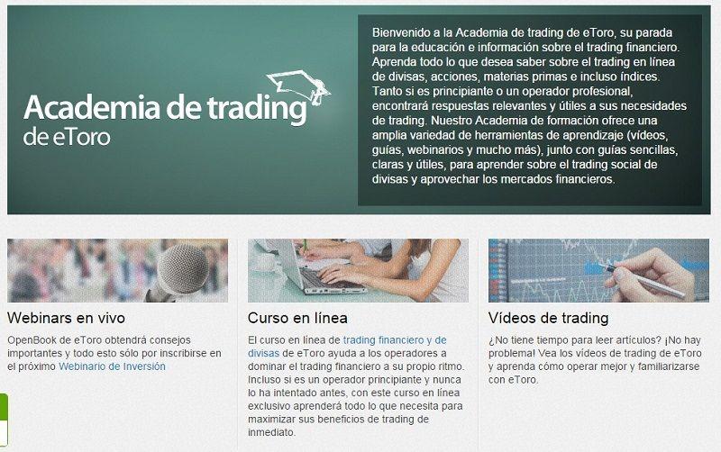 etoro formación a traders