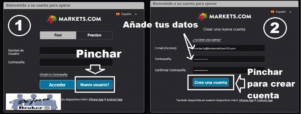 tutorial markets.com nuevo usuario