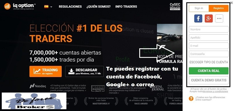 cuenta demo iq option registro