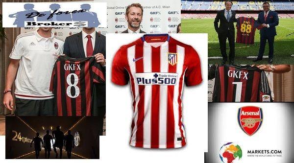 las estrellas del fútbol y el trading, equipos y patrocinadores