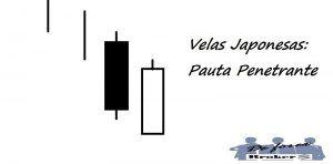 Patrón de Pauta Penetrante con Velas Japonesas