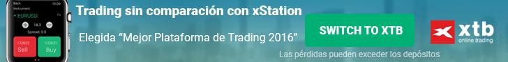 PLATAFORMA DE TRADING XTB XSTATION 5 BANNER INFERIOR