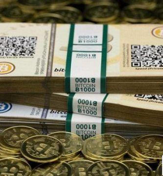 bitcoin en billetes