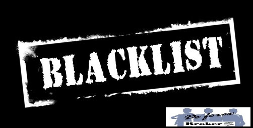 la lista negra de Brokers de Forex