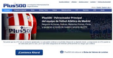 plus 500 patrocinador del Atletico de Madrid