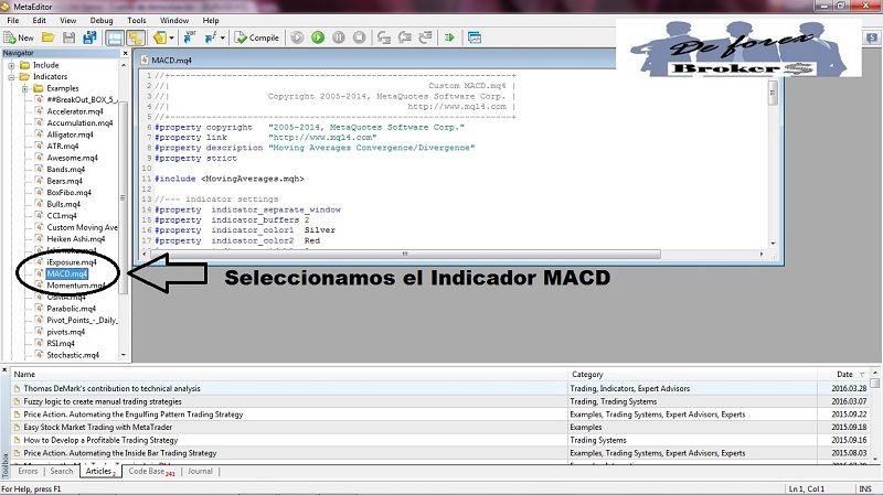 MACD tradicional para Metatrader 4 buscamos código