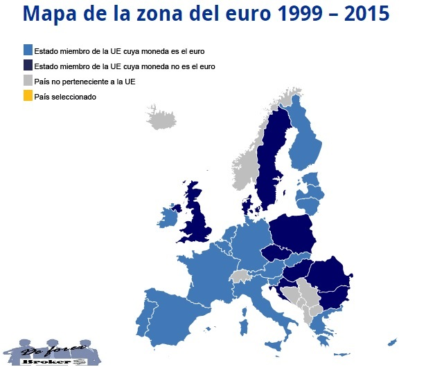 mapa de la eurozona