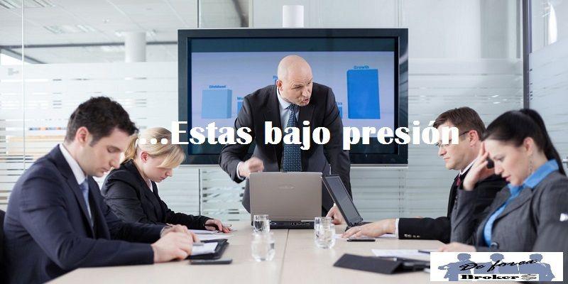 no debes hacer trading cuando tu jefe te presiona