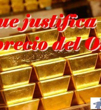 el precio del oro