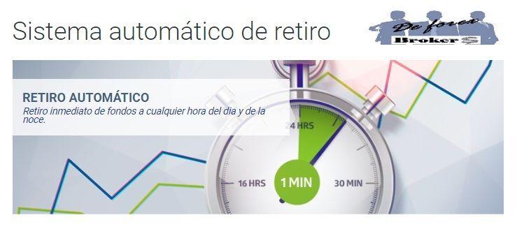 roboforex, sistema automático de retiro
