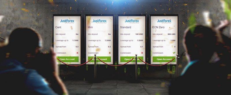 cuentas justforex